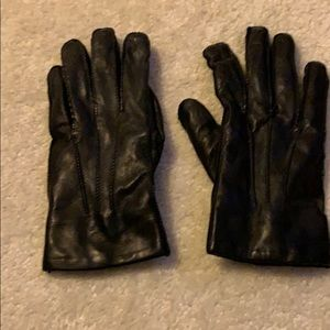 Warm leather gloves!